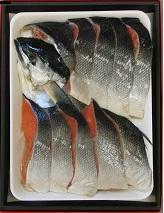 沖塩紅鮭 中辛塩(半身)