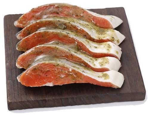 紅鮭バジル(5切)