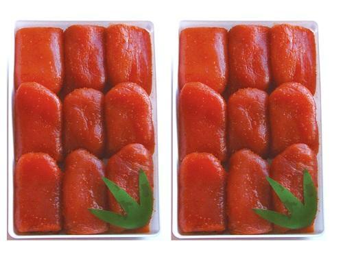【送料無料】B有色からし明太子(特大切れ子)1kg×2