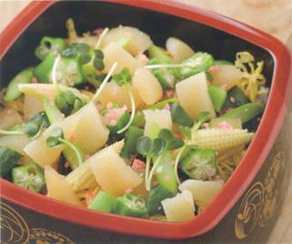 数の子と季節野菜のちらし寿司