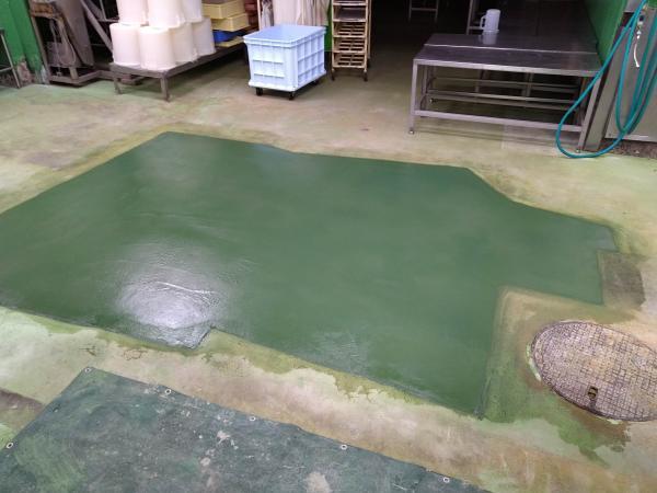 工場の床補修